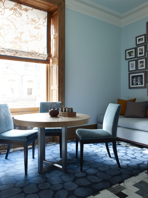 Dinette Sets Dining Room Transitional with Blue Breakfast Room Crown