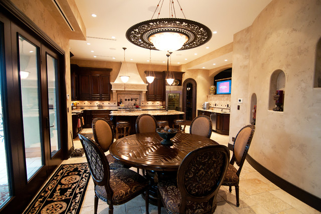 Dinette Sets Kitchen Traditional with Alcove Dark Wood Dining