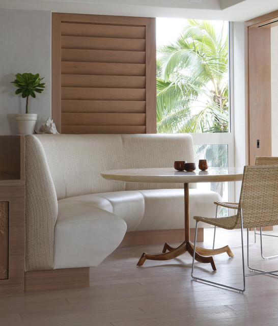 dinette tables Dining Room Tropical with banquette blinds booth breakfast