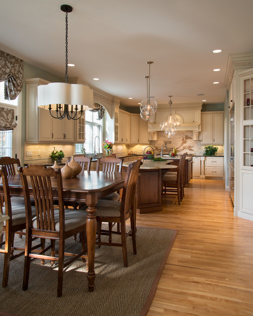 Dinette Tables Kitchen Traditional with Arch Valence Area Ruf