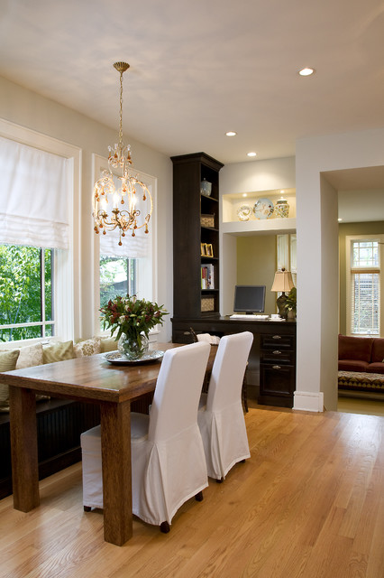 Dining Chair Slipcovers Kitchen Traditional with Booth Crystal Chandelier Kitchen