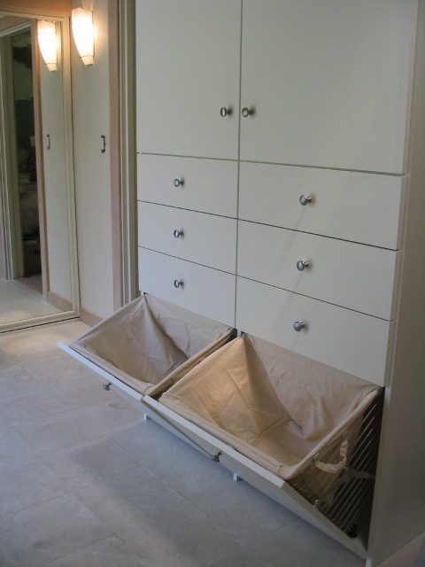 dirty clothes hamper Closet Contemporary with CategoryClosetStyleContemporaryLocationLos Angeles