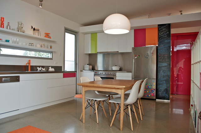 Discount Countertops Kitchen Eclectic with Chalkboard Wall Colorful Kitchen