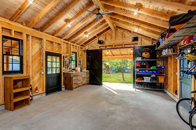 Dominion Electric Supply Garage and Shed Rustic with Barnhouse Bike Area Bike