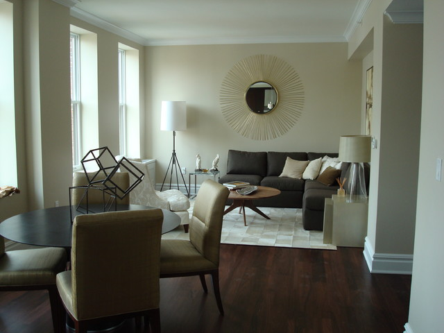 Dorm Chairs Living Room Transitional with Contemporary Dark Wood Floor