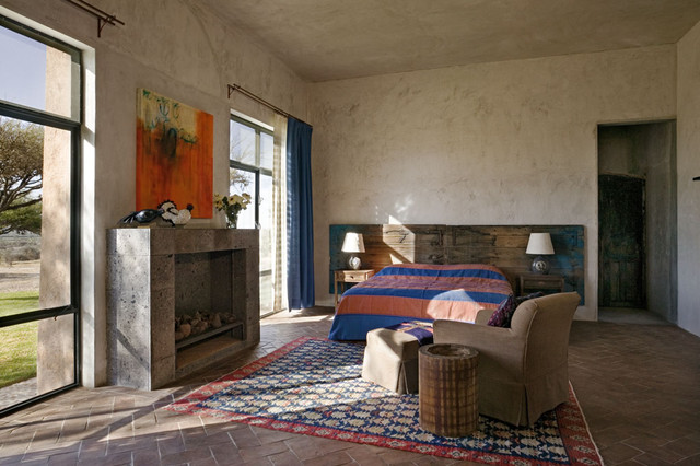 Double Curtain Rod Bedroom Mediterranean with Categorybedroomstylemediterraneanlocationnew York