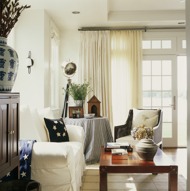 Double Curtain Rod Living Room Rustic with Americana Cane Chair Curtains