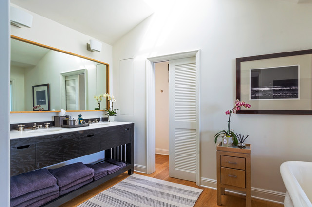 Double Sink Vanities Bathroom Tropical with My Houzz