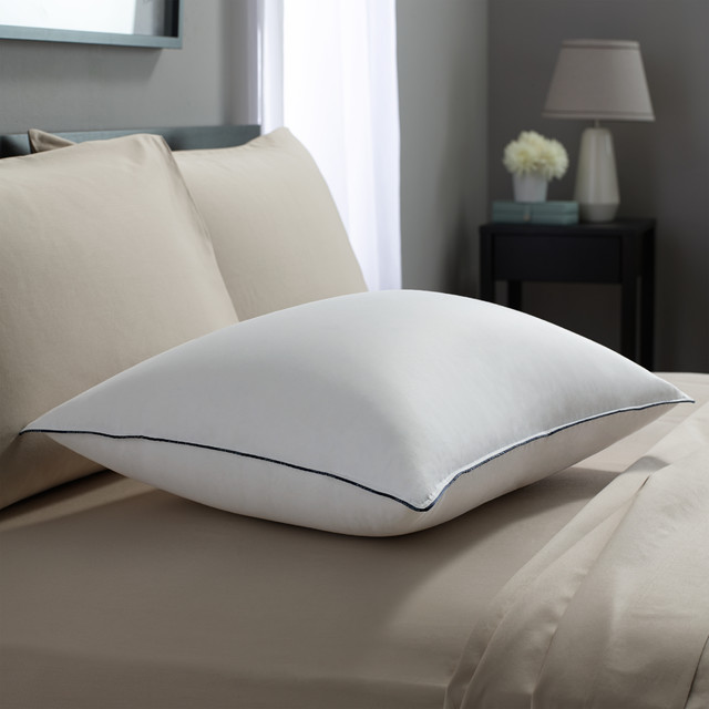 Down Feather Pillows Spaces Contemporary with Double Downaround Pillow Down1