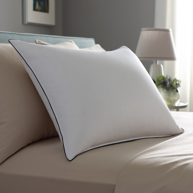 down feather pillows Spaces Contemporary with double downaround pillow down