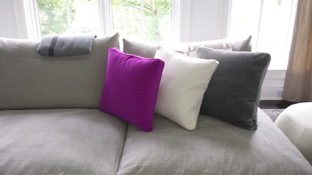 Down Feather Pillows Spaces with Box Style Box Style