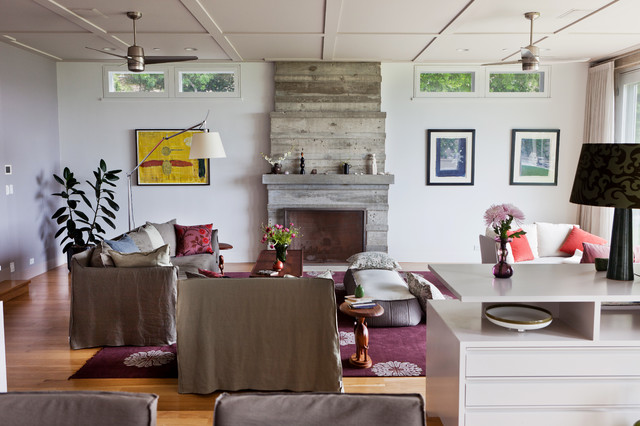 Down Pillow Inserts Living Room Contemporary with Area Rug Artwork Ceiling