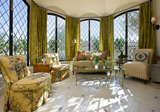 Drapery Rods Living Room Traditional with Bay Window Casement Windows