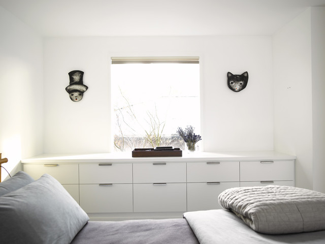 Drawer Fronts Bedroom Contemporary with Built Ins Chest Of