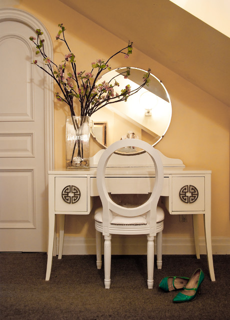 Dressing Table Vanity Bedroom Traditional with Art Deco Desk Drawer