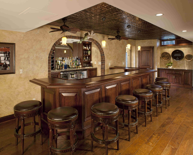 Drop Ceiling Tiles Home Bar Traditional with Alcove Bars Brick Arch