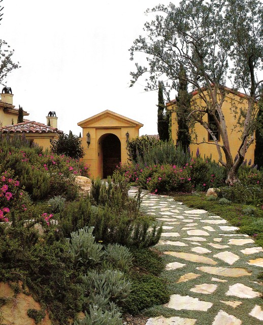 Drought Tolerant Landscaping Landscape Mediterranean with Arch Archway Arid Bushes