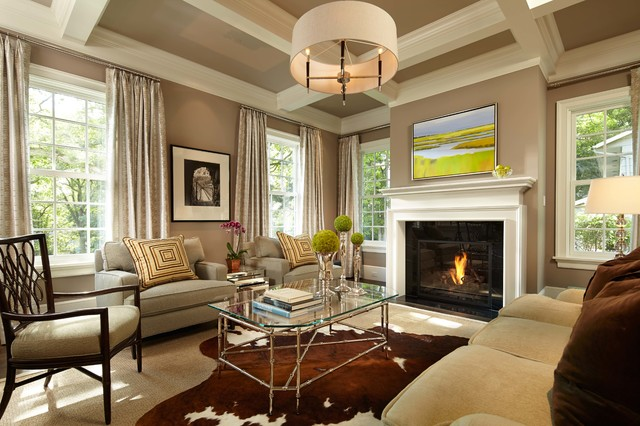 Drum Chandelier Living Room Traditional with Art Beams Beige Ceiling