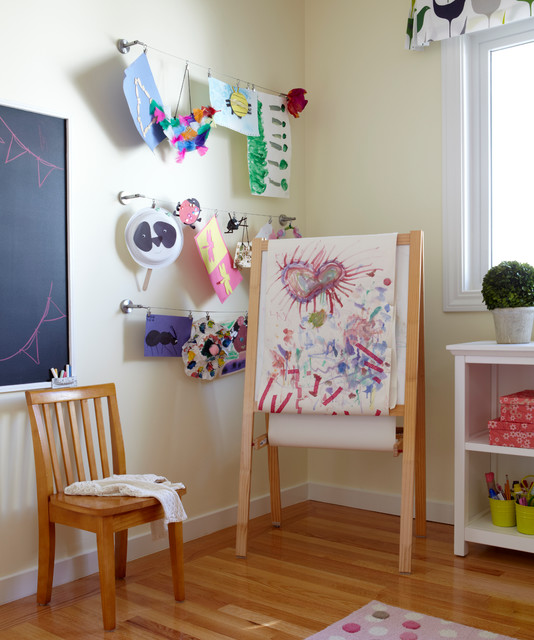 Dry Erase Easel Kids Transitional with Art Line Cable Line