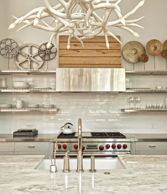 Duffle Bag with Wheels Kitchen Contemporary with Antler Chandelier Contemporary Stainless