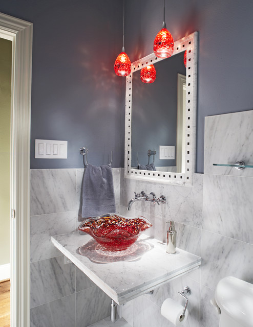 Dunn Edwards Paint Bathroom Eclectic with Bathroom Mirror Hanging Lights