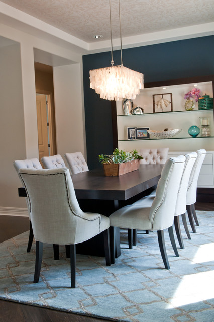 Dunn Edwards Paint Dining Room Contemporary with Accessories Agave Black Black