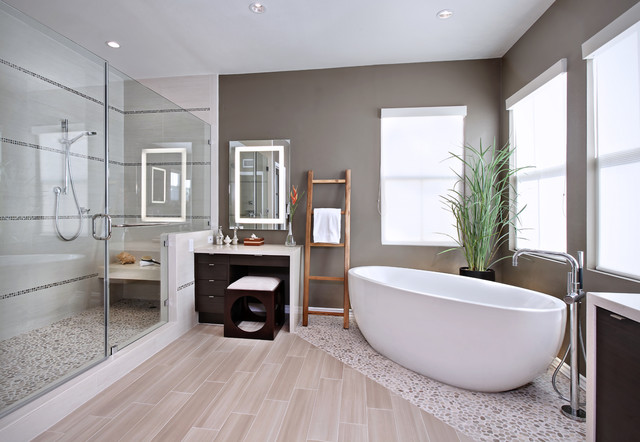 Dunn Edwards Paint Colors Bathroom Contemporary with Accent Tile Bathroom Flooring