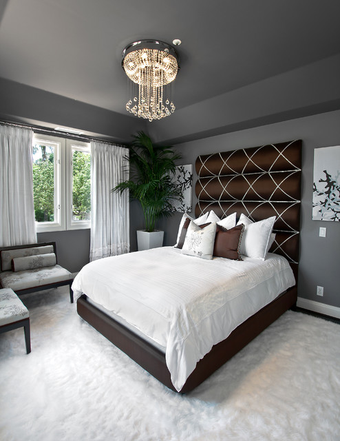 Dunn Edwards Paint Colors Bedroom Transitional with Bedding Brown Brown Bed