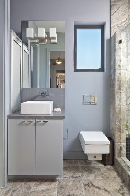 Duravit Toilet Bathroom Contemporary with Compact Elegant Frame Less Shower