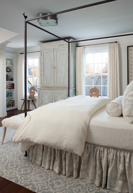 Dust Ruffle Bedroom Traditional with Area Rug Armoire Bed
