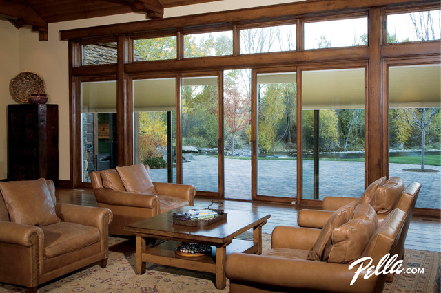Dust Ruffle Living Room Contemporary with Casement Window Designer Series