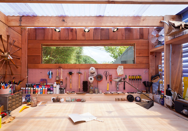Dustpan Garage and Shed Contemporary with Categorygarage and Shedstylecontemporarylocationsanta Barbara