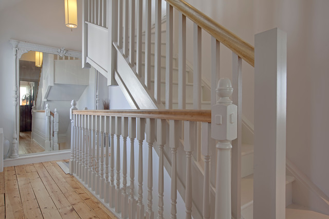 Dustpan Staircase Traditional with Contemporary Living Family Home