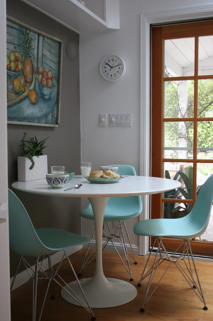 Eames Chair Replica Dining Room Transitional with Clock Eames Chairs Glass