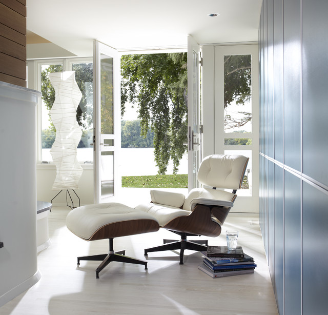 Eames Chair Replica Hall Modern with Floor Lamp French Doors
