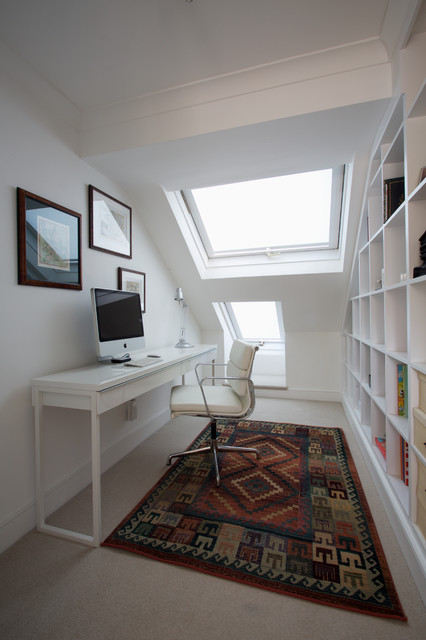 Eames Office Chair Home Office Contemporary with Bookcase Built in Bookcase