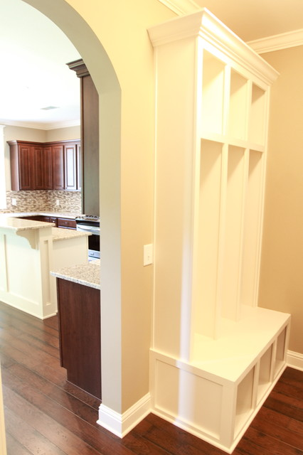 Eastbrook Homes Laundry Room Traditional with Benches Eastbrook Homes Foyer