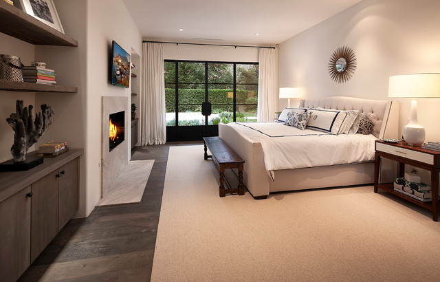 Eastgate Pools Bedroom Contemporary with Airy Bright Fireplace Frechdoors1