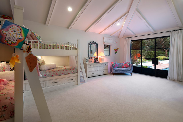 Eastgate Pools Bedroom Contemporary with High Ceilings Kids Bedroom