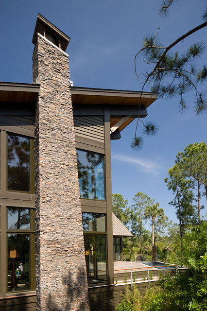 Eastgate Pools Exterior Contemporary with Glass Walls Metal Railing