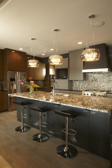 Electrolux Icon Kitchen Contemporary with Breakfast Bar Ceiling Lighting