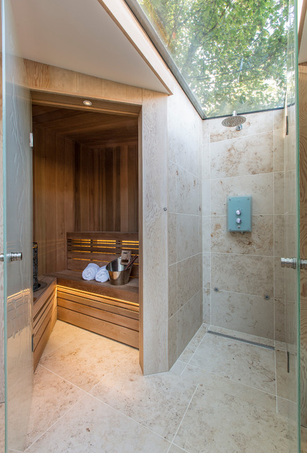 Eleganza Tile Bathroom Contemporary with Bathroom Doors Bathroom Sauna