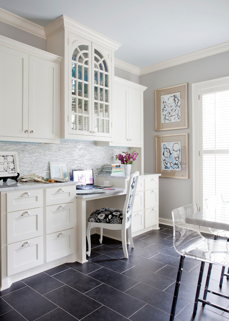 Emser Tile Home Office Traditional with Amanda Talley Art Baseboards