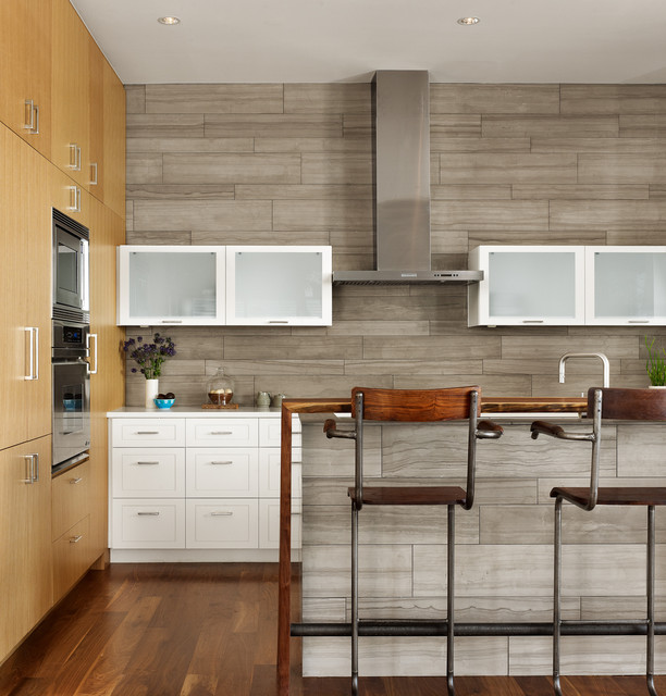 Emser Tile Kitchen Contemporary with Austin Modern Gray Kitchen