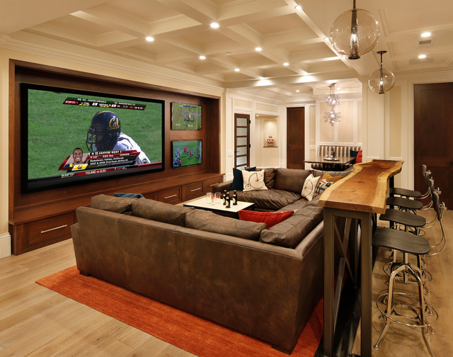 Entertainment Centers for Flat Screen Tvs Home Theater Traditional with Banquette Black Counter Stool