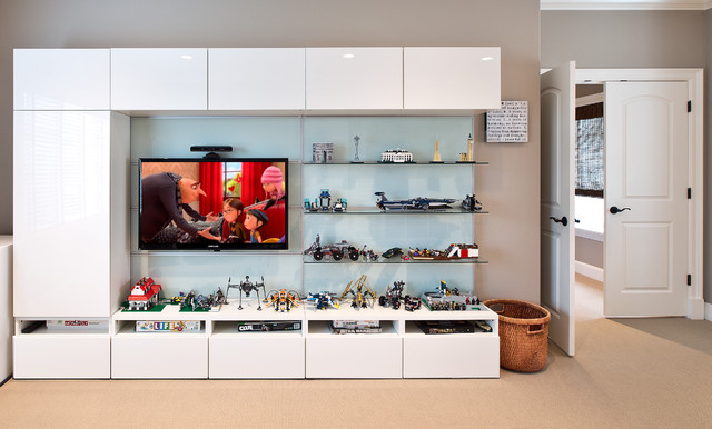 Entertainment Centers Ikea Kids Transitional with Beige Carpet Beige Wall