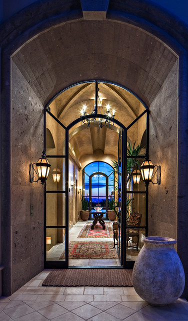 Entry Door with Sidelights Entry Mediterranean with Arched Entry Arched Windows