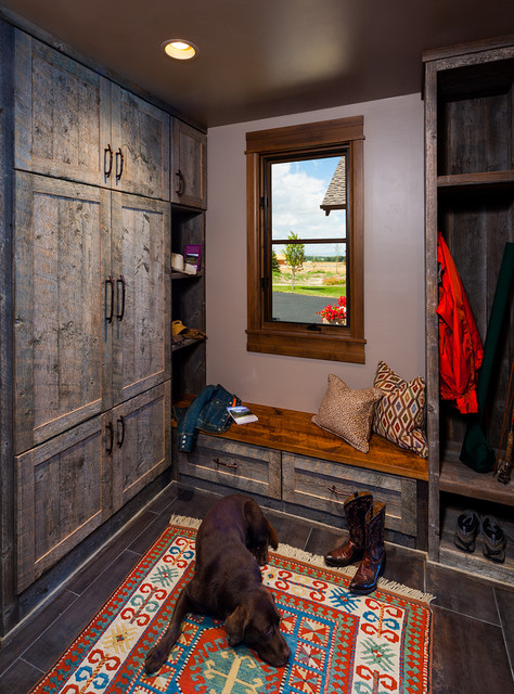 Entryway Bench with Shoe Storage Entry Contemporary with Brown Ceiling Brown Tile