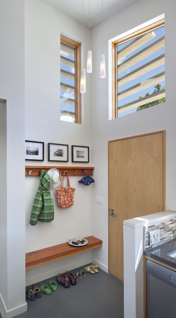 Entryway Bench with Shoe Storage Entry Modern with Coat Rack Entrance Entryway