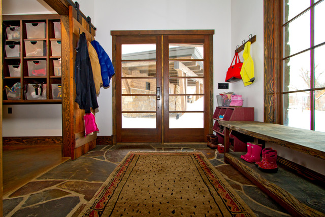 Entryway Bench with Shoe Storage Hall Traditional with Coat Rack Cubby Storage